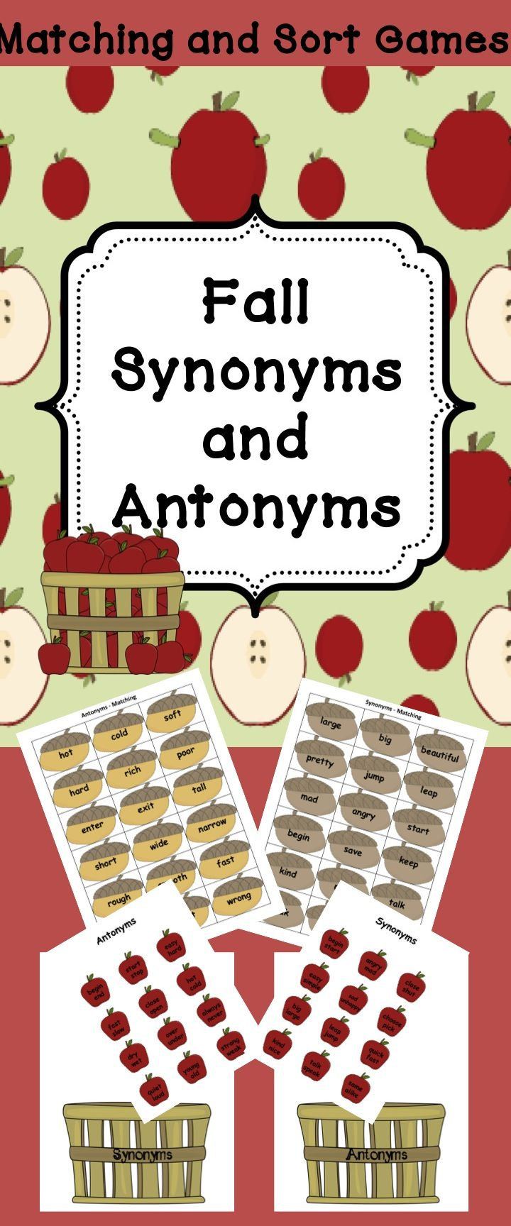 97 FREE Synonyms/Antonyms Worksheets - Busy Teacher