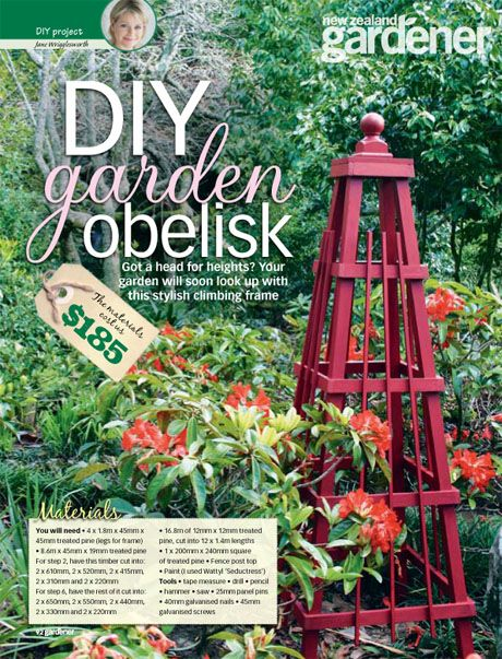 pdf instructions for making this gorgeous garden obelisk