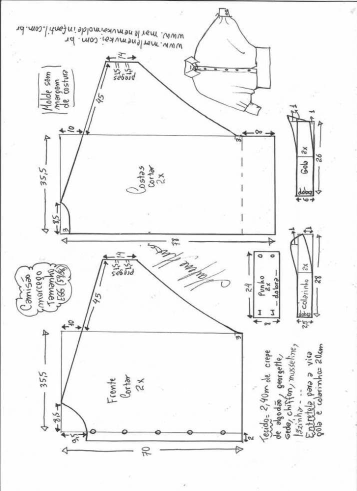 Camisa grande estilo XXL Patrón para hacer una camisa grande estilo XXL. Encontraras desde la talla S hasta la XXL. Talla S: Talla XS: Talla M: Talla L: Talla XL: Talla XXL: Fuente: http://www.marlenemukai.com.br/ Patrón de Camisa manga larga sin hombrosPatrón Blusa asimétrica en dos tejidosPatrón Blusa suéter raglanBlusa con solapa y volantePatrón …