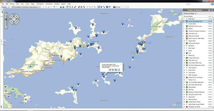 Spanish Town, Virgin Islands, GPS, Map, POI, Garmin