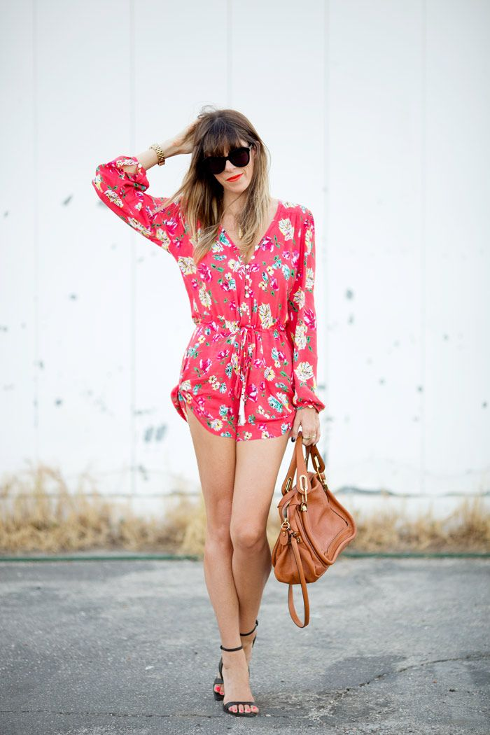 floral romper. making me dream of spring.