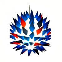 Blue and Red Cone Lampshade