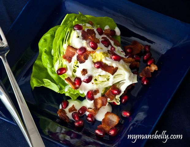 Buttercrunch-Lettuce-Wedge-Salad-with-Goat-Cheese-Dressinig Recipe - RecipeChart.com #Appetizer