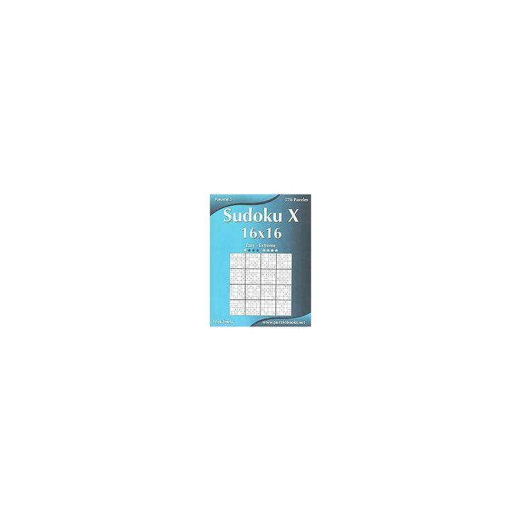 Sudoku X 16x16 ( Sudoku X) (Paperback)