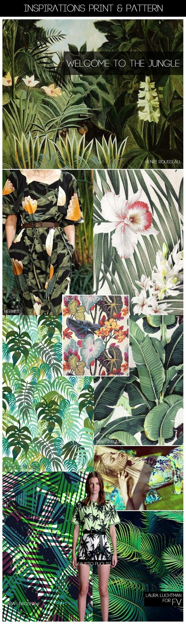 FASHION VIGNETTE: [ INSPIRATIONS PRINT + PATTERN ] KUKKA by Laura Luchtman - SS 2015 WELCOME TO THE JUNGLE