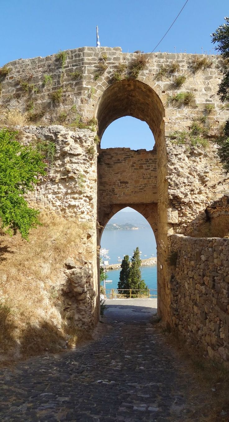 The town gate of the castle at Koroni, Greece