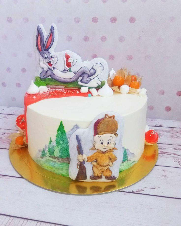 92 отметок «Нравится», 7 комментариев — ТОРТЫ на ЗАКАЗ (@elena_cake_stav) в Instagram: «Ну что ...все знают этих персонажей?....,у нас в гостях Бакз банни и Элмер Фадд.А вообще это торт…»