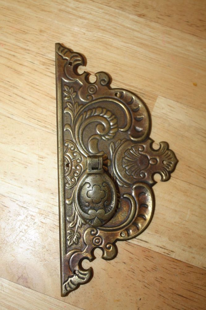 antique hardware vintage drawer pull victorian cabinet knob handle with plate