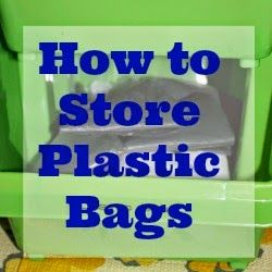 How To Store Plastic Bags (without a big, bulky, wadded up mess)