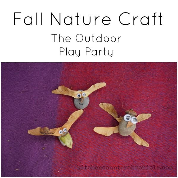 Funny little fall nature craft creatures for kids to make. #outdoorplay