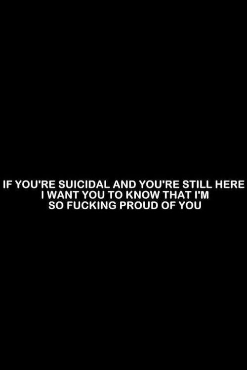 I've attempted suicide many times. Failed at every attempt to that's why I'm still here. So if any of yall need to talk I'm always here for you. I know exactly what it's like. Feel free to message me.