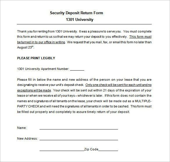 Security Deposit Return Form Template Fresh 21 Deposit Receipt Templates Doc Excel Pdf Receipt Template Invoice Template Templates