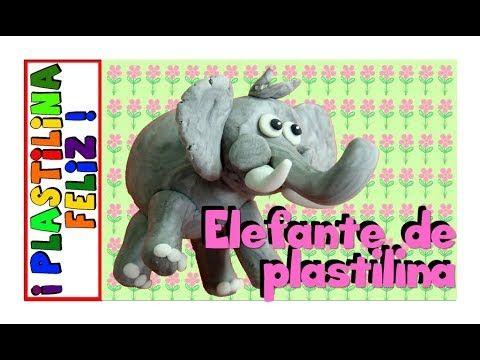 cómo hacer un elefante fácil en plastilina
