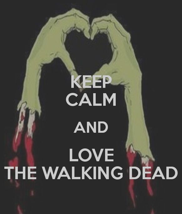 "I hate ""Keep Calm"" quotes as they are way over used but this one I like. Can't pass up severed zombie hands showing love :)"