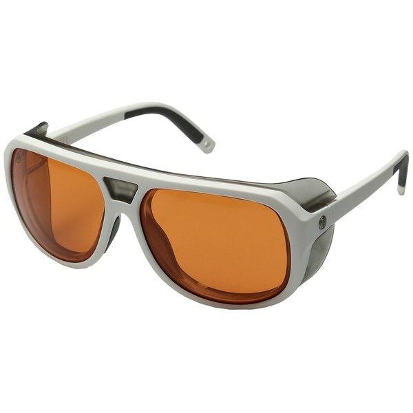 Electric Eyewear Stacker (Matte Black/Ohm/Orange) Sport Sunglasses ($180) ❤ liked on Polyvore featuring men's fashion, men's accessories, men's eyewear, men's sunglasses, mens aviator sunglasses and mens sport sunglasses