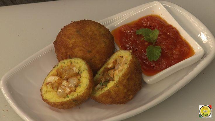 Masala Rice Balls - Arancini di Riso Recipe - By VahChef @ VahRehVah.com - YouTube