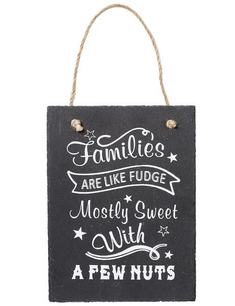 Tilly@home Slate Hanging Plaque, Families product photo