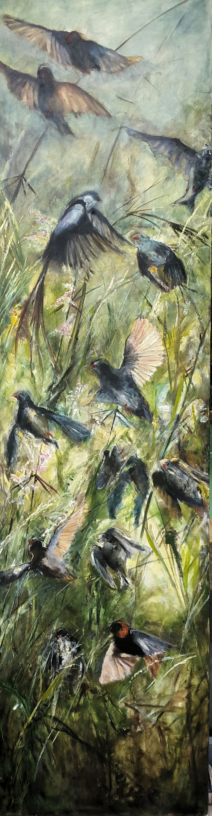 In Anticipation of Spring Artist: Pauline Hugo Oil on canvas