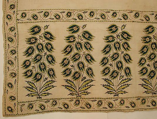 Sash (Patka) - Late 17th century - India - Cotton, silk; plain weave, embroidered