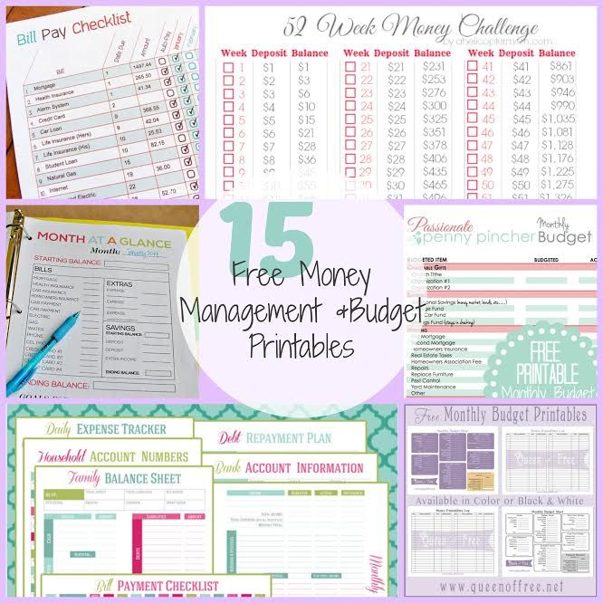 15 Free Money Management Budget Printables Tips