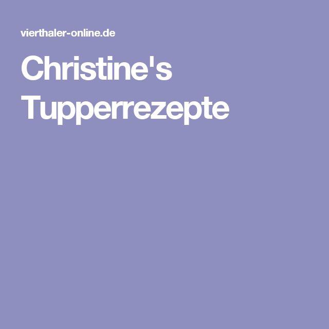Christine's Tupperrezepte