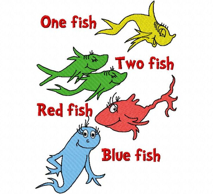 One fish two fish red fish blue fish printables www for One fish two fish printable