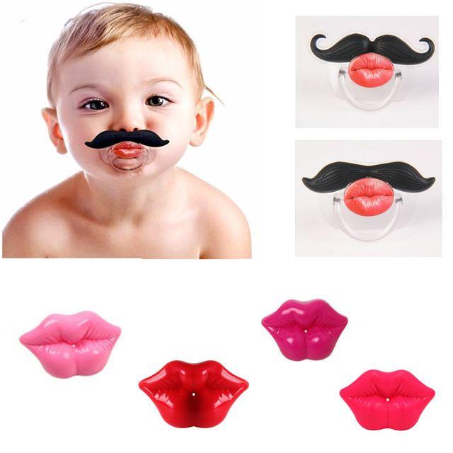 1 фотография держатель ребенок соску усы веселые соски для младенца силикона соску клипы цепи соска держатель соски смешно пустышки #men, #hats, #watches, #belts, #fashion