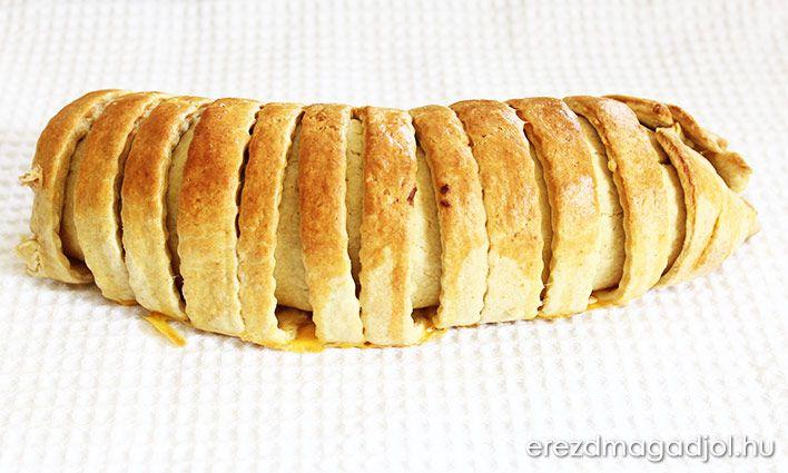 Egészséges almás-diós tekercs
