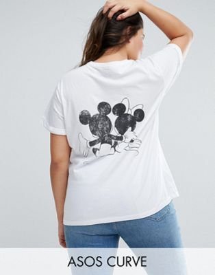ASOS CURVE T-Shirt with Mickey and Minnie Print
