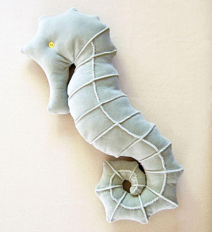 velvet seahorse pillow   Flickr - Photo Sharing!