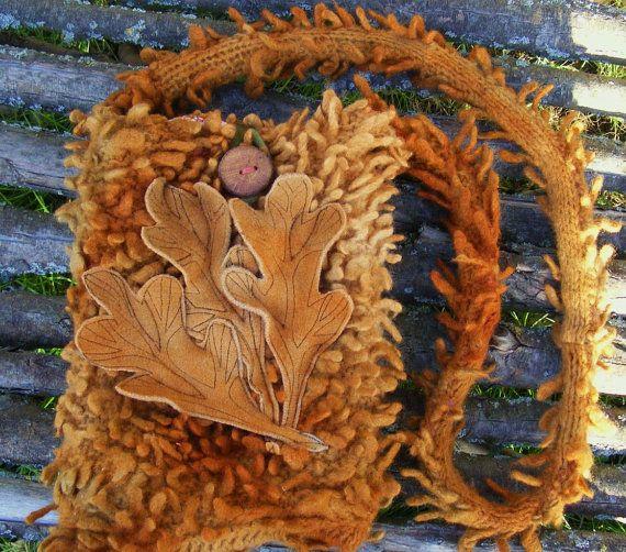 Old Oak Tree Recycled Felt  Bag iPad tablet by folkowl on Etsy, $75.00