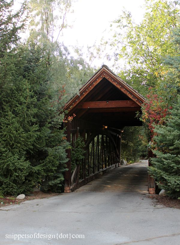 Covered Bridges ~ www.snippetsofdesign.com