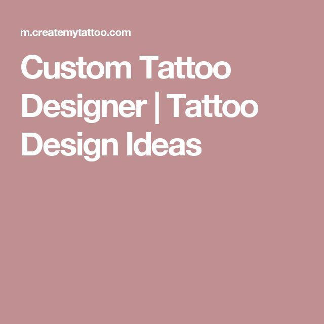 Custom Tattoo Designer | Tattoo Design Ideas