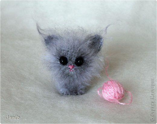 Мой маленький котенок. Амигуруми. Связан из мохера. Впервые попробовала эту…