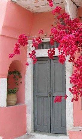 Dreamy door in Greece.                                                                                                                                                                                 More