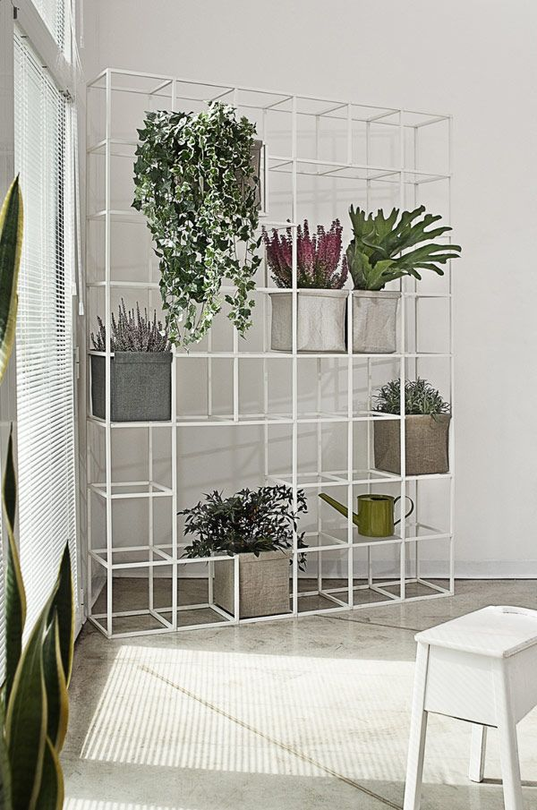 Indoor Flower Terraces With I-pot Modular System by Supercake. I love how it turns a drab corner into a focal point and displays your lovely plants.
