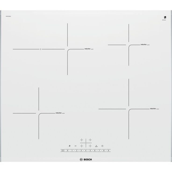 BOSCH PIF672FB1E Induction hob, 60 cm touch control, white glass