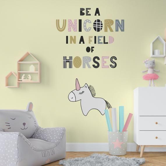 Be A Unicorn Scandinavian Style Wall Sticker Nursery Stickers