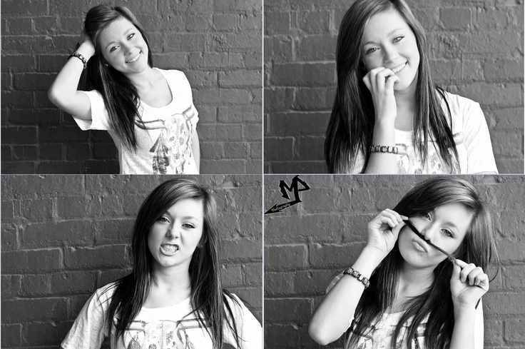 A photo-booth picture idea for girls as senior pictures.