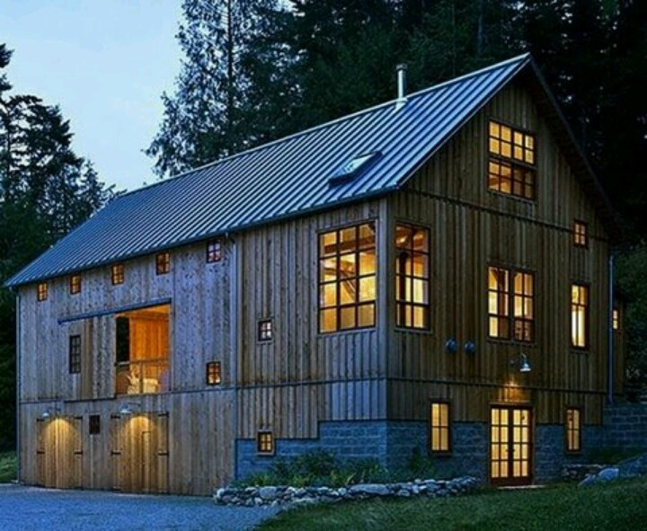 Old barn converted to home. Greene Partners Architecture and Design. San Juan Islands in Washington State.