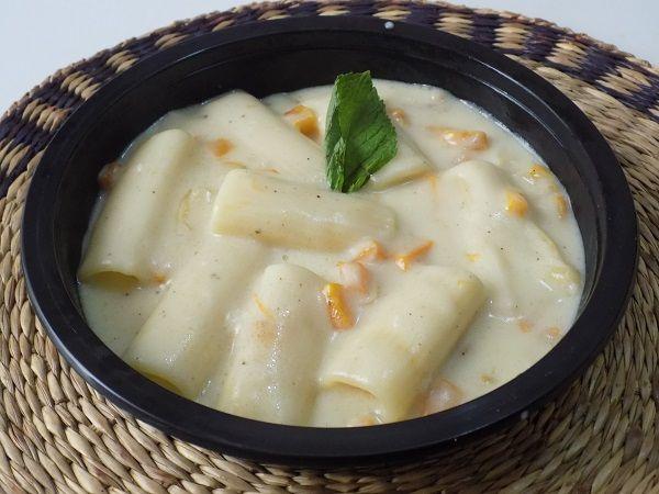 Pasta Rigatoni con calabaza