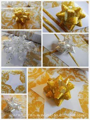 @vontagzutagmari Kleine Geschenke in weiß und gold. Schnell gemacht, kostengünstig, sehen immer gut aus. Weihnachtspackerln ganz einfach. http://vontagzutag-mariesblog.blogspot.com