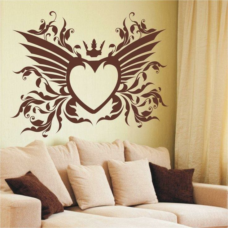 Szablon malarski - Serce | Paint template - Heart | 24,99 PLN #paint #template #heart #bedroom_decor #home_decor #interior_decor #design