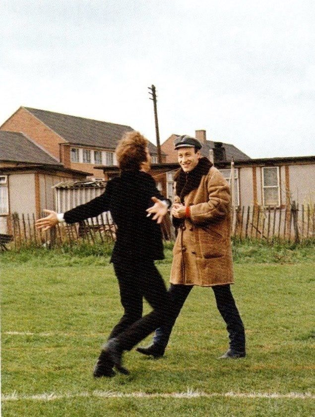"""Kinder Garden: A Color Photograph Of The Beatles During The Filming Of """"A"""
