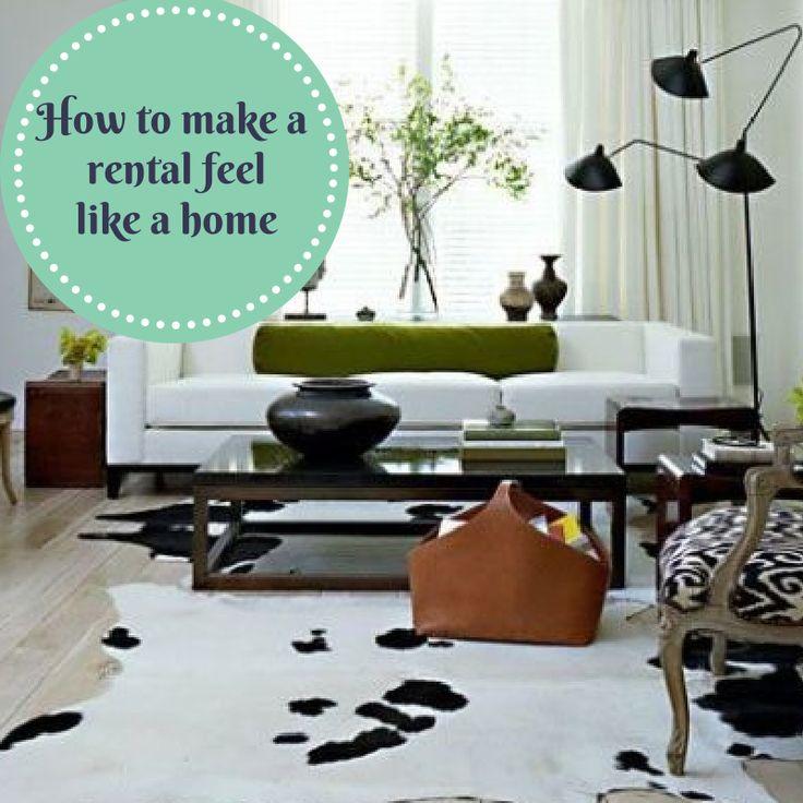 How to make a rental feel like home...Visit http://www.sahomeowner.co.za/mari/2014/03/11/make-a-rental-feel-like-home/