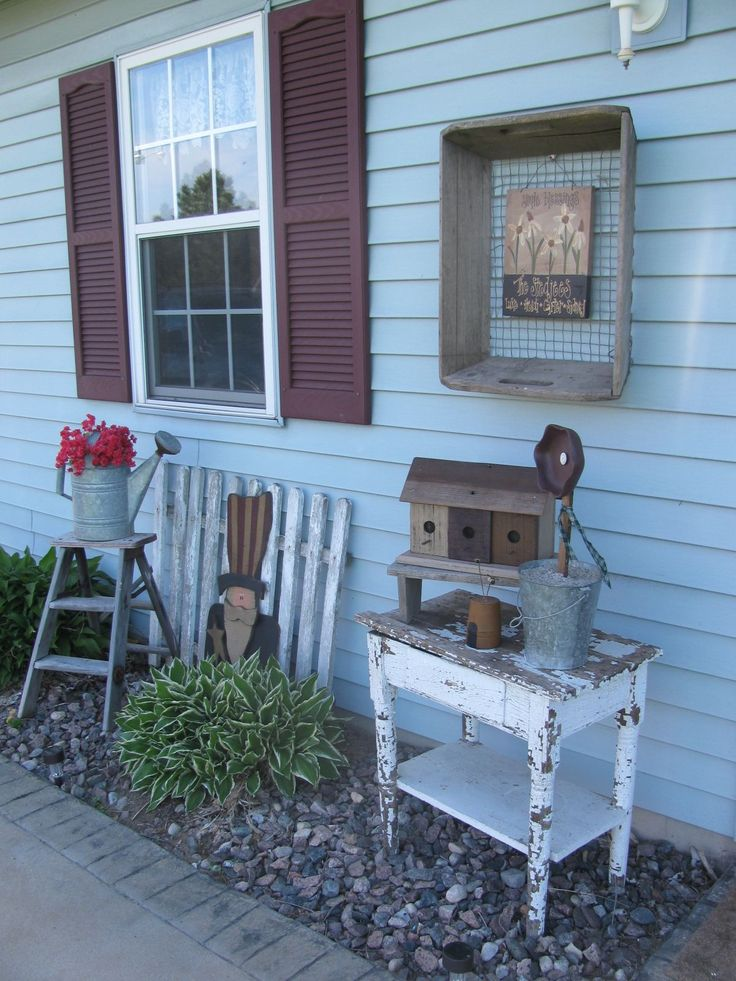 17 best images about primitive country cozy decor on pinterest crafts country front porches - Outdoor dekoration ...
