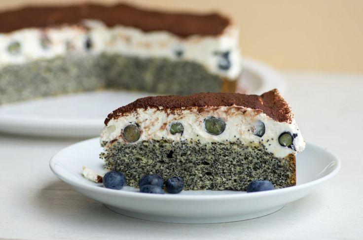 Türkischer Mohnkuchen mit Blaubeeren | Cosy Kitchen