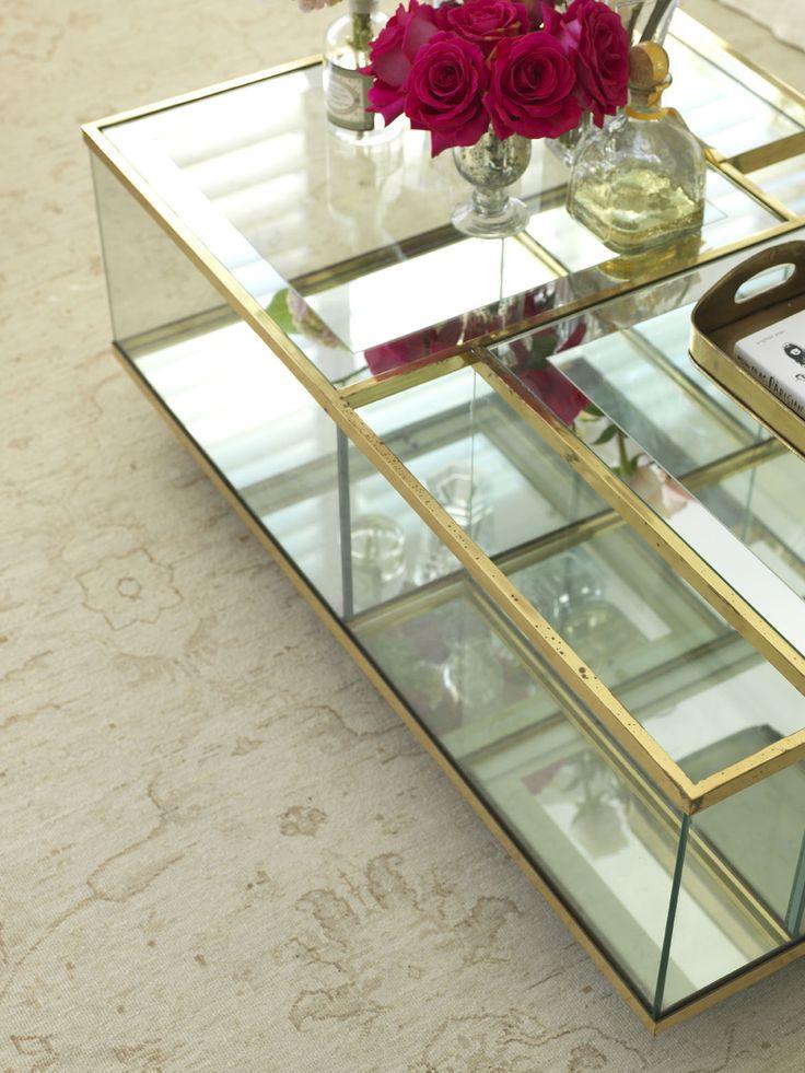 BELLEVUE ABODE   alwill  #glass #coffeetable #gold