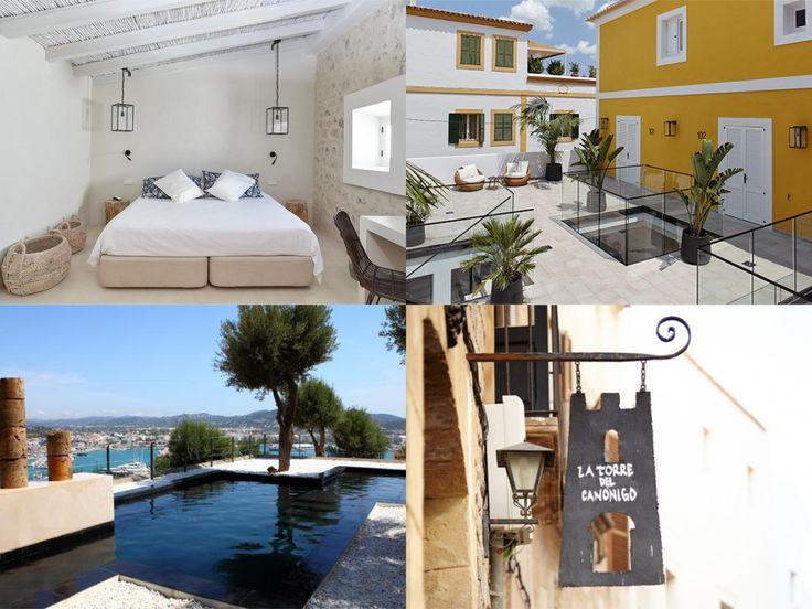"""Ibiza! Wil jij graag overnachten op een unieke plek in #Ibiza? Er staat een prachtige 14e eeuwse toren in de oude stad """"Dalt Vila"""" in Ibiza stad die gebouwd is over de oude muren van de romeinse akropolis (staat op de UNESCO) lijst. Het fijne van overnachten in #LaTorredelCanónigo is dat je in een #authentiek hotel overnacht in kamers die van alle gemakken zijn voorzien met leuke terrasjes, gezelligheid en bezienswaardigheden om de hoek!"""