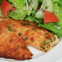 Parmesan Crusted Tilapia Fillets - Think of it like a fancy baked fish and chips. Perfect for Friday, right?